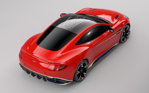 Картинка car, Aston Martin, red, logo, wings, Arrow, tecnology, Aston Martin Vanquish S Red Arrows Edition