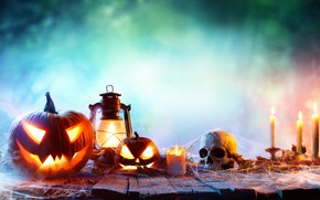 Картинка halloween, faces, pumpkins