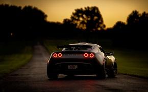 Обои Exige, дорога, Lotus Exige, спорткар, ночь, Lotus