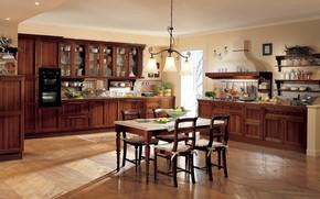 Обои интерьер, кухня, столовая, вилла