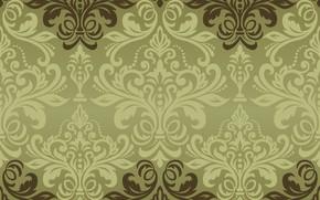 Обои vector, текстура, орнамент, background, pattern, classic, grin, seamless, damask