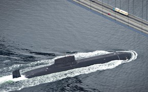 Картинка мост, ВМФ, подводная лодка, России, Project 941