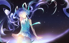 Картинка девушка, аниме, Вокалоид