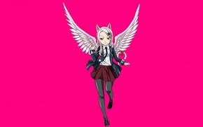 Картинка girl, game, neko, anime, wings, asian, Carla, manga, japanese, Fairy Tail, oriental, asiatic, bishojo, seifuku, …