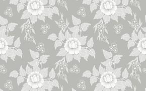 Обои цветы, ретро, обои, текстура, vintage, flower, texture, background, pattern, seamless