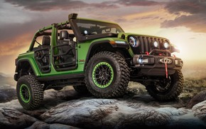 Обои Jeep, Unlimited Rubicon Moparized, 2018, Wrangler