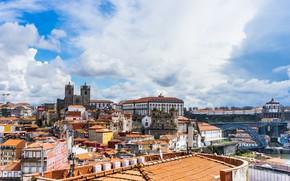 Картинка Португалия, Porto, Порту, небо, город