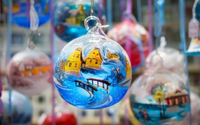 Обои шарики, украшения, праздник, игрушки, Франция, шар, Рождество, Кольмар, Рождественский рынок