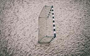 Картинка песок, спорт, ворота