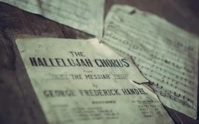 Картинка ноты, музыка, The Hallelujah Chorus