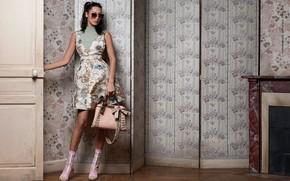 Картинка девушка, платье, сумка, Bella Hadid, Fendi