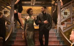 Картинка cinema, dress, woman, man, movie, film, king, Black Panther, Chadwick Boseman, Wakanda, T'challa