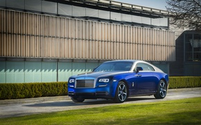 Картинка солнце, синий, Rolls-Royce, blue, collection, Роллс-Ройс, wraith, bespoke