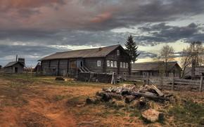 Картинка дом, деревня, Архангельская область, Кимжа