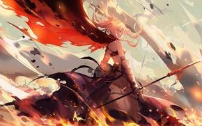 Картинка девушка, аниме, арт, Fate Stay Night, Артурия, сейбер