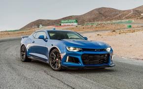 Картинка Chevrolet, Camaro, шевроле, синяя, камаро