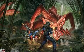 Картинка язык, джунгли, чудовище, Jude Smith, Ambush