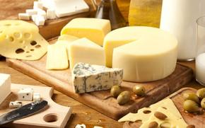 Картинка сыр, оливки, ассорти