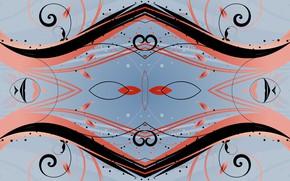 Картинка линии, узоры, симметрия