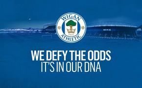 Картинка wallpaper, sport, logo, football, Wigan Athletic