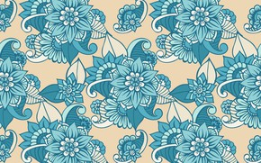 Обои цветы, pattern, текстура, floral, design, узор