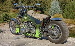Картинка тюнинг, мотоцикл, байк, Chopper, motorcycle, Аллигатор, чоппер, Alligator, МТ Днепр