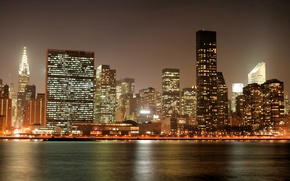 Картинка night, New York, Manhattan