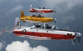 Обои T-6B, учебно-тренировочный самолёт, Texan II