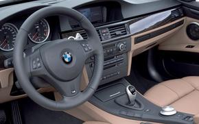 Картинка BMW, руль, салон