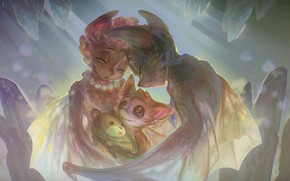 Картинка семья, арт, летучие мыши, muddymelly