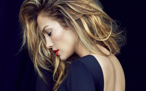 Обои певица, Jennifer Lopez, спина, актриса