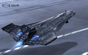 Картинка транспорт, техника, аппарат, take off, Suborbital Jet A.X. 12748-A
