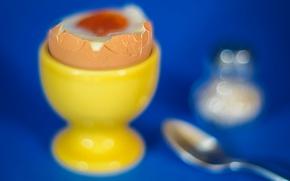 Картинка яйцо, завтрак, ложка, всмятку