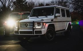 Картинка Light, Mercedes, Hummer, White, W463, G-class