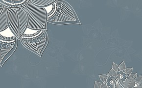 Картинка цветы, фон, узор, текстура, орнамент, decoration