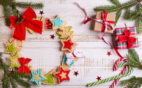 Картинка украшения, елка, Новый Год, Рождество, подарки, Christmas, Merry Christmas, Xmas, gift, cookies, decoration, песенье