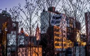 Картинка небо, дома, Highline Manhattan