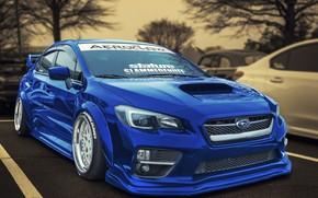 Обои дизайн, Subaru, WRX, автомобиль