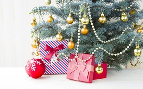 Картинка игрушки, новый год, подарки, елкка