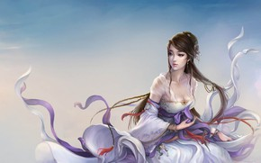 Обои девушка, ветер, игра, арт, fantasy, персонаж