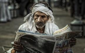 Картинка человек, газета, Hot News