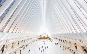 Картинка люди, Нью-Йорк, США, зал, Всемирный торговый центр