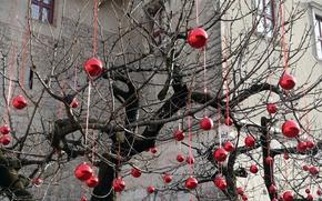 Картинка дерево, праздник, игрушки