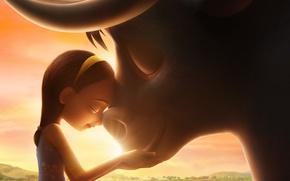 Картинка girl, bull, friends, animated film, kid, Ferdinand, animated movie