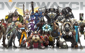 Картинка Game, Blizzard Entertainment, Reaper, Hanzo, Mei, Bastion, Overwatch, Tracer, Widowmaker, Mercy, McCree, Pharah, Reinhardt, Zenyatta, …