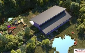 Картинка крыша, лето, природа, строение, property