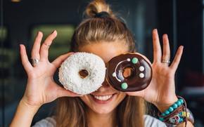 Картинка chocolate, donut, donuts, sprinkles