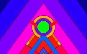 Картинка круги, треугольники, фигуры, слои