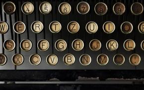 Обои печатная машинка, клавиши, буквы