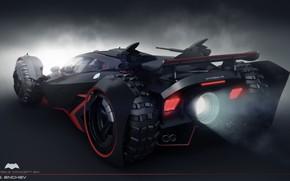 Картинка автомобиль, задок, batmobile concept